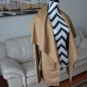 Tobi Camel / Beige Draped Jacket